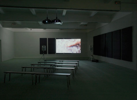 projected video image in gallery