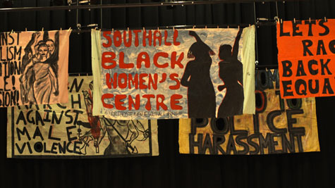 cloth protest flags southall black sisters